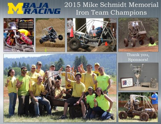 Michigan University 2015 Baja Team